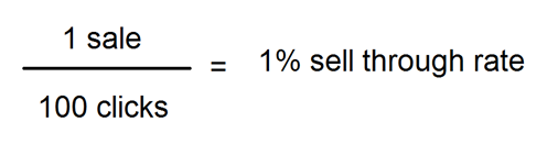 eBay sell-through rate