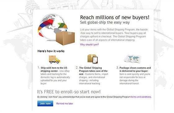 eBay Global Shipping Programme