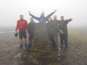Parcelhub summits Yorkshire three peaks 2017