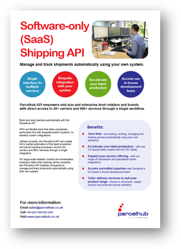 saas shipping api software uk