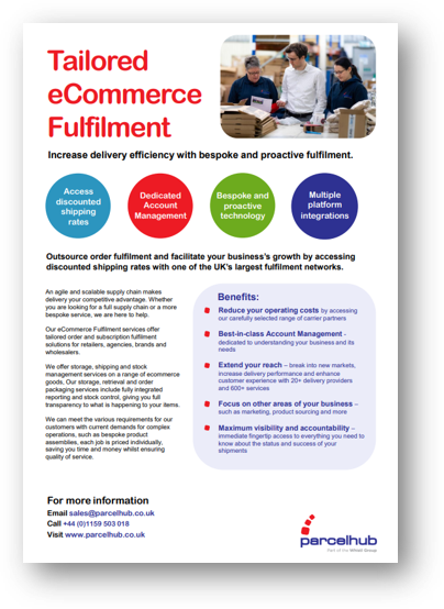 tailored ecommerce fulfilment
