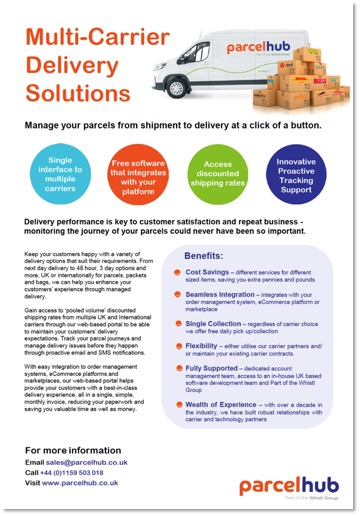 multi-carrier delivery management solutions fact sheet